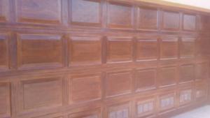 woodgrain garage
